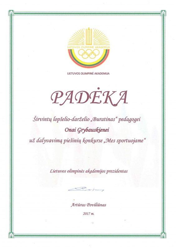 Onutei Grybauskienei